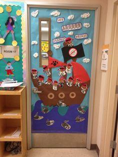 """2013 red ribbon week door.  """"We arrrr against drugs!"""""""