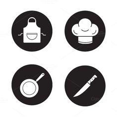 Cooking equipment. Vector @creativework247