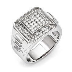 Share & Earn earn Bonus reward points toward fine jewelry Sterling Silver &... Check it out here! http://shirindiamond.net/products/sterling-silver-cz-brilliant-embers-polished-mens-ring?utm_campaign=social_autopilot&utm_source=pin&utm_medium=pin