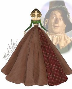 Michael_anthony_designs The Wizard of Oz Scarcrow Disney Princess Fashion, Disney Style, Disney Art, Arte Fashion, Girl Fashion, Fashion Design, Fashion Drawing Dresses, Fashion Sketches, Fashion Illustration Hair