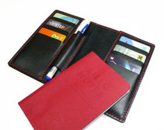 Leather Filed Notes cover with pen holder  Notebook cover