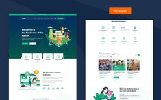Tuto - Education PSD PSD Template Text Icons, Education Templates, Web Design Software, Wordpress Template, News Blog, Psd Templates, You Changed, Student, Make It Yourself