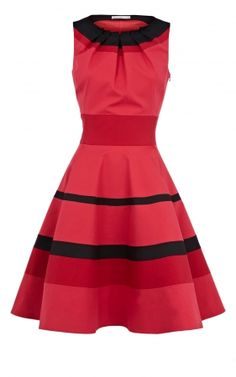 Karen Millen Colourblock dress red multi [DL201] : Karen Millen dresses online,Karen Millen sale,Karen Millen UK online store - www.karenmillendresses2u.co.uk