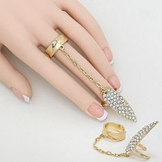 PWB3150 - Crystal connector nail ring - $8.99 : Shop Trendy Jewelry and Accessories, Peeny Wallie Boutique