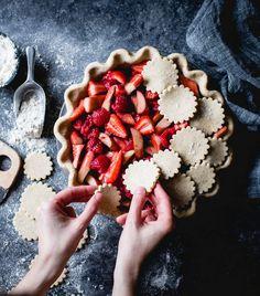 Rezept für Rhabarberkuchen Strawberry Raspberry Rhubarb Pie, Recipe rhubarb cake