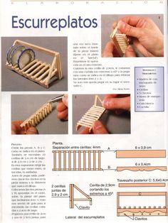 Casitas en Miniatura: Escurreplatos tutorial                              …