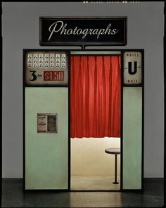 Vintage Photobooth. Woolworths would have had one of these close to the lunchenette counter for silly teenagers, grandparents making memories with grandchilderen and for those in love stealing a kiss on film. 3 photos for 6 quarters? What a deal! I still have these photos strips from 40 years ago when I was 5 years old and took shopping trips with my favorite Aunt Deb. The Photo Booth was one of my favorite memories of spending time with her when we went downtown to shop.