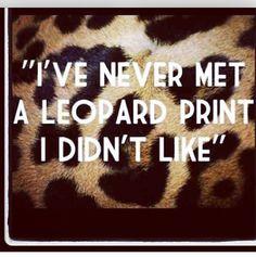 I love leopard print!