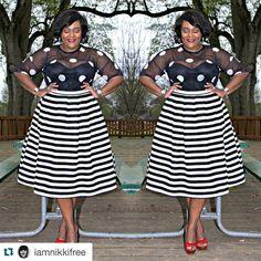 #Repost @iamnikkifree with @repostapp. ・・・ New Blog Update: Fun In Black & White on nikkifreestyle.com #celebratemysize #plusmodelmag