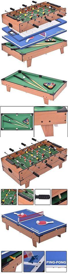 Tables 21213: 4 In 1 Pool Table Billiard Balls Cues Air Hockey Ping Pong Foosball Game Room -> BUY IT NOW ONLY: $139.86 on eBay!