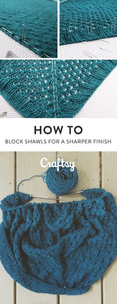 When you knit a shawl, you might notice that while you're stitching it and even when you bind off, the shawl looks all scrunched up. There's an easy way to solve all those problems: blocking. @craftsy
