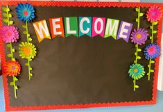 Creative Bulletin Boards, Summer Bulletin Boards, Bulletin Board Borders, Library Bulletin Boards, Back To School Bulletin Boards, Preschool Bulletin Boards, Preschool Classroom, Classroom Decor, Preschool Welcome Board