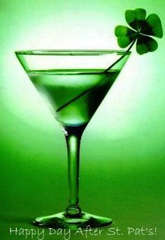 The Green Martini! Cheers to St. Patrick's Day!