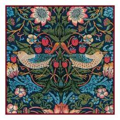 Wm Morris Strawberry Thief Detail Orenco Originals Counted Cross Stitch Chart #OrencoOriginals #OrencoOriginals