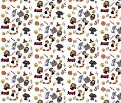 Sorcerer's Stone Bits fabric by laceyisadork on Spoonflower - custom fabric