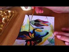 Painting a Butterfly Using Ink -mmm...I wonder how this would work with alcohol ink? I'm going to have to try!