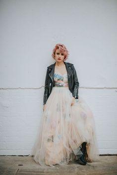 Alternative Wedding Dresses - Flower Bomb: Chotronette Editorial for Rock n Roll Bride Magazine Alternative Bride, Alternative Wedding Dresses, Affordable Wedding Dresses, Grunge Wedding, Punk Rock Wedding, Rock And Roll, Rocker Wedding, Punk Dress, Gothic Dress