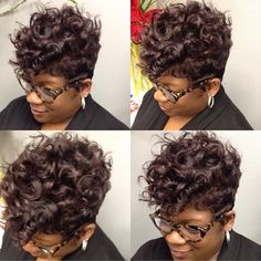  Kim  • Khimandi Hair Studio • @khimandi Instagram photos   Websta Dope Hairstyles, Cute Hairstyles For Short Hair, Curly Hair Styles, Natural Hair Styles, Short Hair Dos, Short Sassy Hair, Short Pixie, Pixie Cut, Pin Up