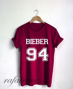 Justin Bieber Shirt Bieber 94 Tshirt Unisex Size - RT25 par RafaTrove sur Etsy https://www.etsy.com/fr/listing/248770149/justin-bieber-shirt-bieber-94-tshirt