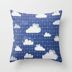 Clouds Throw Pillow by liberthine01 | Society6