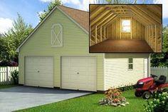 Build a 24' X 24' Garage with loft (DIY Plans) Fun to build! Save money!