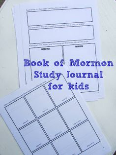 Book of Mormon study guide for kids (great for teens/adults, too!). Use this scritpure journal to study God's word more deeply.