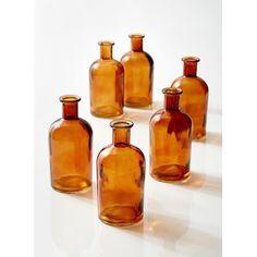 6 Piece Veatch Glass Table Vase Set