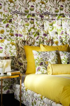 Home decor inspiration: The Botanical Color upholstery fabric collection cultivates beauty in every stitch—from lavish digitally printed florals to inky block prints to classic damasks in fresh, modern color ways.