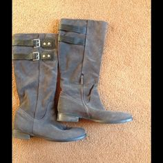Nine West boots Gently worn suede boots. Super cute! Nine West Shoes Combat & Moto Boots