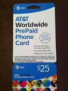 At&t Worldwide Prepaid Phone Card3