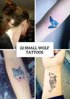 Small Wolf Women Tattoo Ideas