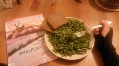 Healthy food with good magazine is always the best choice :-)