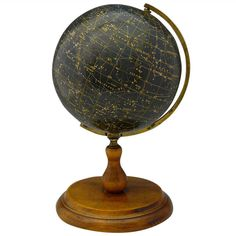 Desk top Celestial Globe | From a unique collection of antique and modern globes at https://www.1stdibs.com/furniture/more-furniture-collectibles/globes/