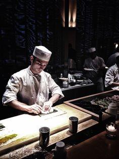 Sushi chefs at work, Sake No Hana, London.