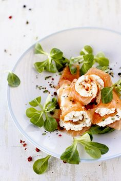 salmon and Ricotta rolls - perfect as a starter