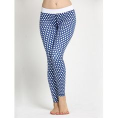 Polka Dot Skinny Yoga Leggings What To Eat When Pregnant Pregnancy Nutrition Fitness Exercises Belly