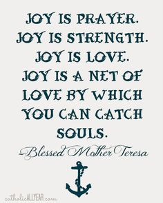 Blessed Mother Teresa quote on white II