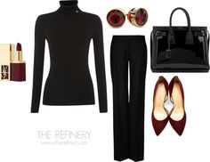 Chic Professional Woman Work Outfit. Steal this work outfit ideas | THE REFINERY