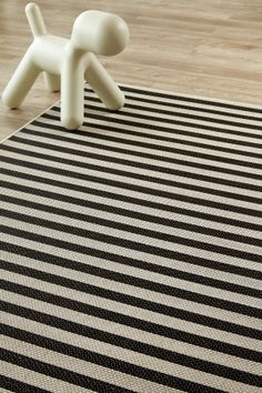 Black Jailbird  (2 X 3): Water-resistant, durable poly-propylene woven flatweave (2 X 3 m). From Airloom