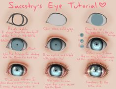 Eye Tutorial by =Saccstry on deviantART I dont think I'll ever use this, but I know will regret it if I dont pin it somewhere.