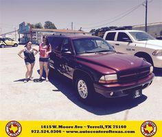 https://flic.kr/p/JkREER | Happy Anniversary to Michelle on your #Dodge #Durango from Sergio Betancourt at Auto Center of Texas! | deliverymaxx.com/DealerReviews.aspx?DealerCode=QZQH