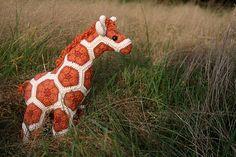 Crochet African Flower Giraffe by Woolbunnies