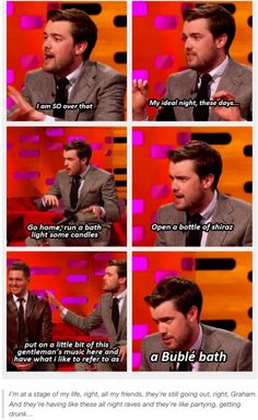 Ladies and Gentlemen: A Bublé Bath - the mans a genius! British Humor, British Comedy, Bad Education, Jack Whitehall, Redneck Humor, Marriage Humor, Stand Up Comedy, Workout Humor, Funny People