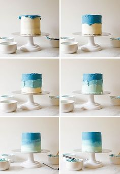 Smash Cake Tutorial and George's First Birthday! - Wood & Spoon - - Making a smash cake for your is simple with the decorating inspiration found in this tutorial. Sprinkle cake, ombre, florals, and rustic frosting tutorial. Cake Decorating Techniques, Cake Decorating Tips, Cake Decorating Frosting, Cake Decorating For Beginners, Birthday Cake Decorating, Birthday Decorations, First Birthday Cakes, Baby Boy Birthday Cake, Baby Boy Cakes