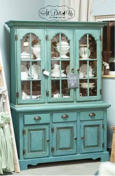 Miss Mustard Seed Milk Paint - kitchen scale hutch by All Dolled Up Chalk Paint Furniture, Furniture Projects, Furniture Making, Diy Furniture, Modern Furniture, Furniture Design, Hutch Makeover, Furniture Makeover, Hutch Redo