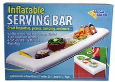 Lot of 2 Inflatable Serving Salad Bar Buffet Picnic Drink Table Cooler Party Ice