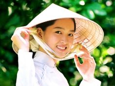 Vietnam traditional girl smile, Vietnam smile, vietnam girl