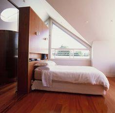 wooden divider/bedhead