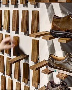 Gallery of Skechers TR Casual Showroom / Zemberek Design - 5 (Diy Storage Shelves) Pallet Furniture, Furniture Design, System Furniture, Mirrored Furniture, Smart Furniture, Furniture Shopping, Furniture Storage, Furniture Plans, Diy Shoe Rack