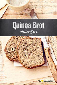 Quinoa bread - With our recipe for quinoa bread you bake a real power bread: completely gluten-free and super juic - Healthy Vegan Snacks, Healthy Summer Recipes, Pan Sin Gluten, Sans Gluten, Mexican Food Recipes, Sweet Recipes, Gluten Free Grains, Food Combining, Low Carb Bread